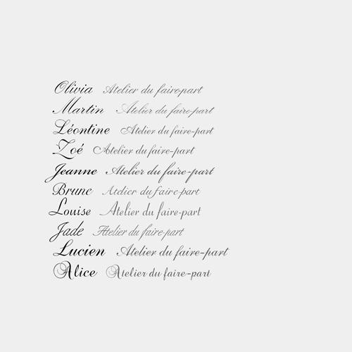 typographies anglaises