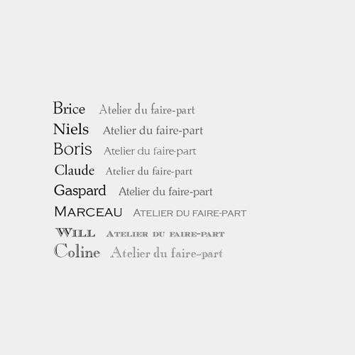 typographies bâtons avec empattements