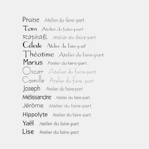 typographies bâtons sans empattement