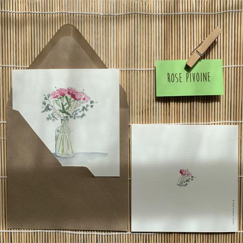 Bouquet pivoines aquarelle