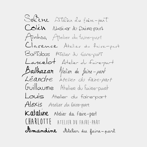 typographies manuscrite